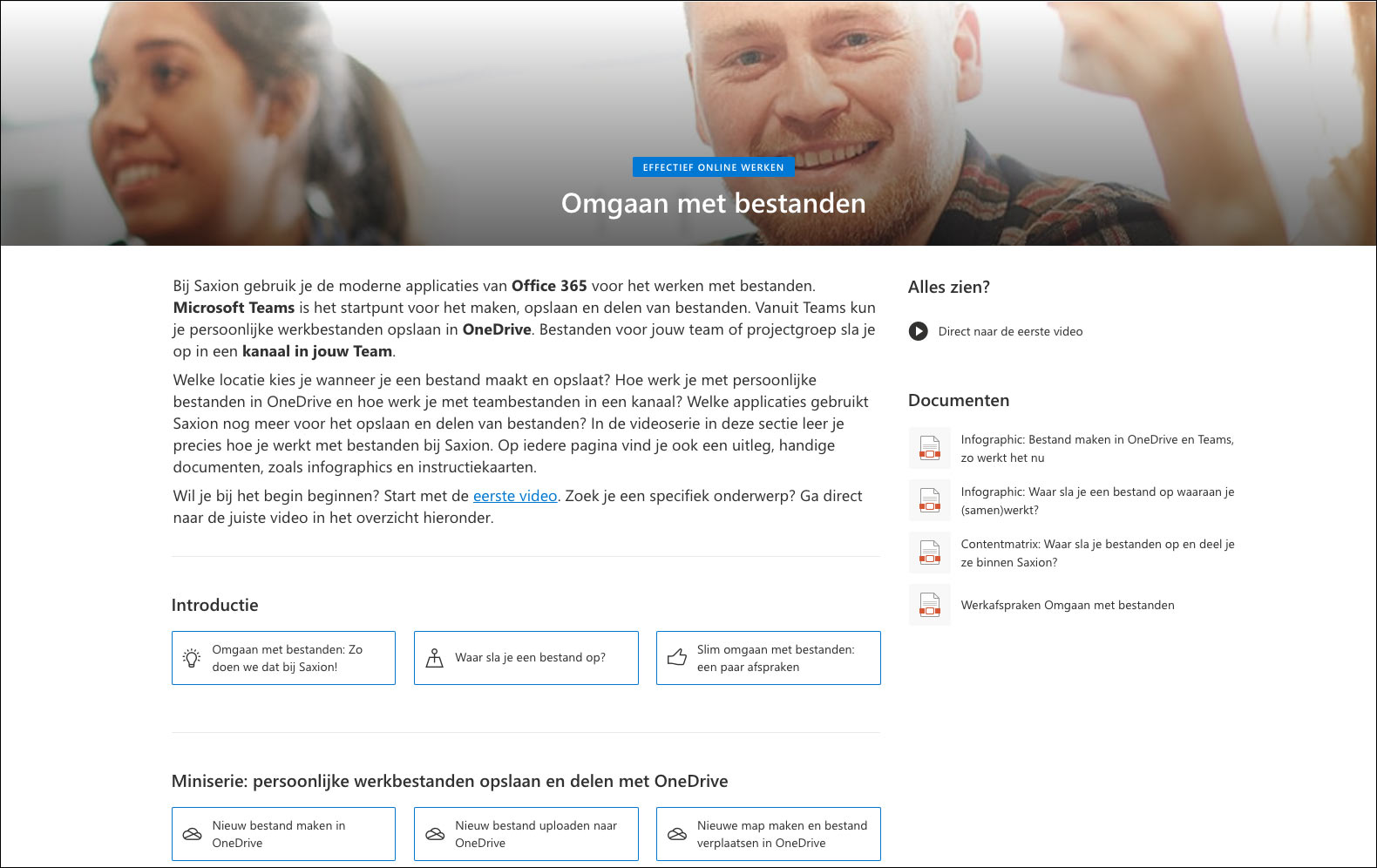 Omgaan met bestanden - SharePoint Communication Site